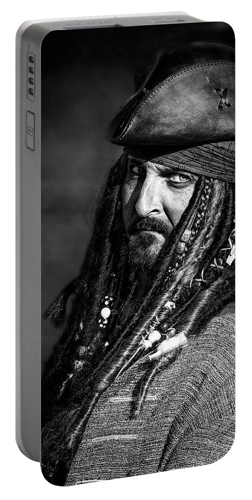 Capt'n Jack Portable Battery Charger featuring the photograph Capt'n Jack by Wes and Dotty Weber