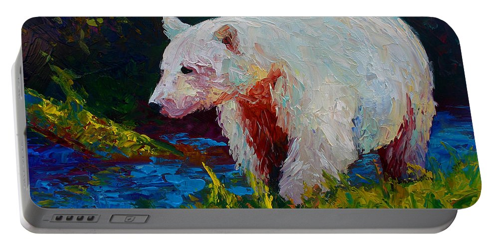 Western Portable Battery Charger featuring the painting Capture The Spirit by Marion Rose