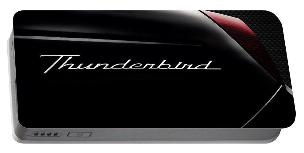 Thunderbird Portable Battery Charger featuring the digital art Carbon Black Thunder by Douglas Pittman