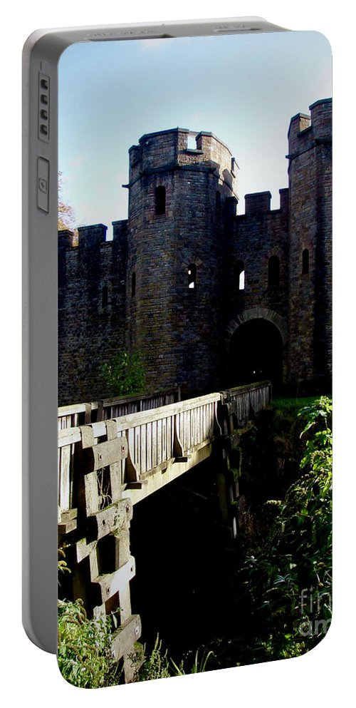 Cardiff Portable Battery Charger featuring the photograph Cardiff Castle Gate by Rachel Morrison