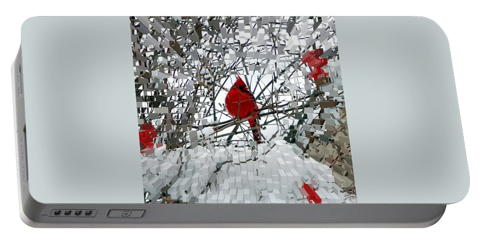 Birds Portable Battery Charger featuring the photograph Cardinal by Lisa Kane
