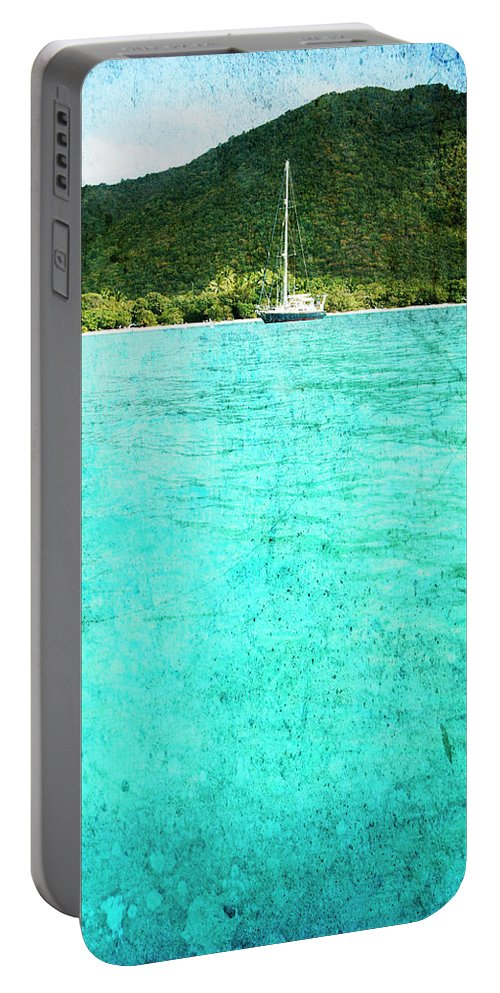 Portable Battery Charger featuring the photograph Caribbean Cruising by Guy Crittenden