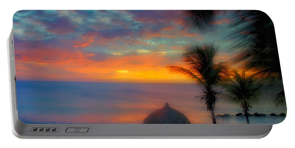 Sunset Portable Battery Charger featuring the photograph Caribbean Dreams by Stephen Anderson