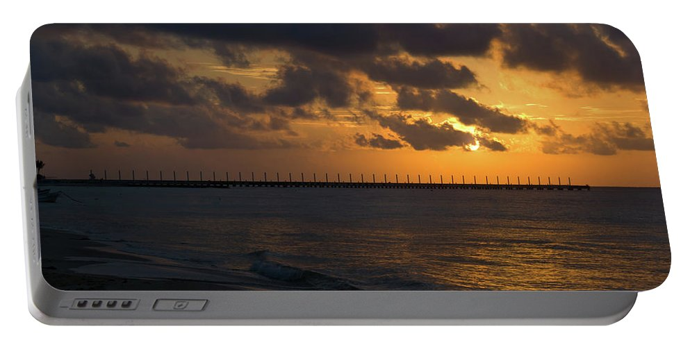 Caribbean Portable Battery Charger featuring the photograph Caribbean Early Sunrise 4 by Douglas Barnett