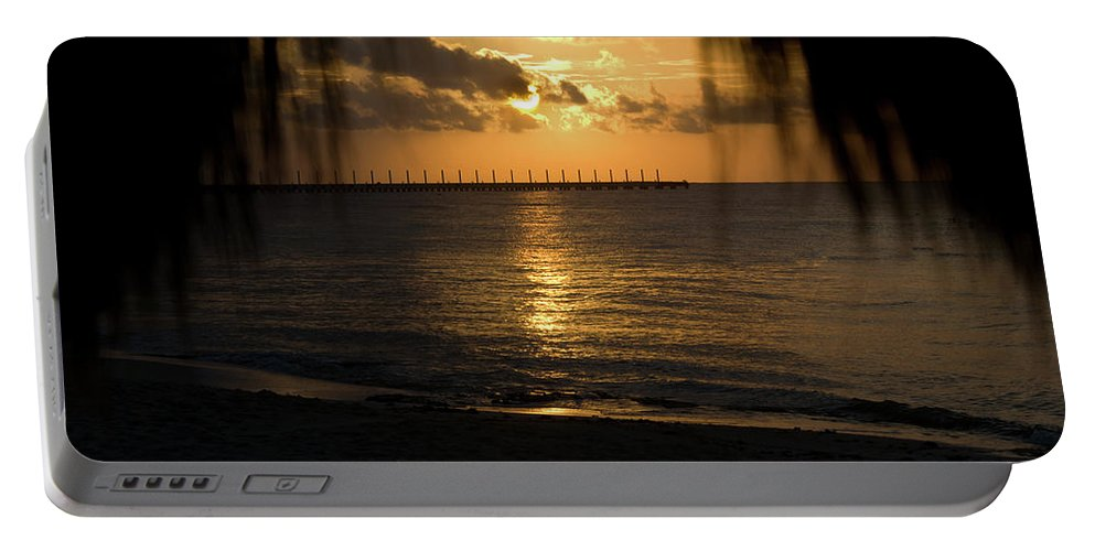 Joy Portable Battery Charger featuring the photograph Caribbean Early Sunrise 5 by Douglas Barnett