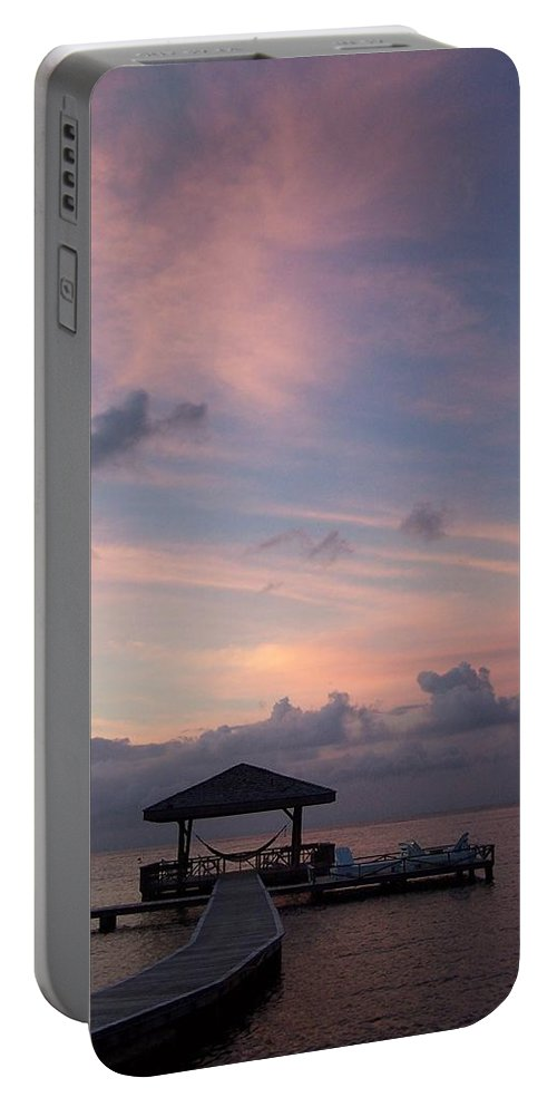 Ocean Portable Battery Charger featuring the photograph Caribbean Sunrise by Gale Cochran-Smith