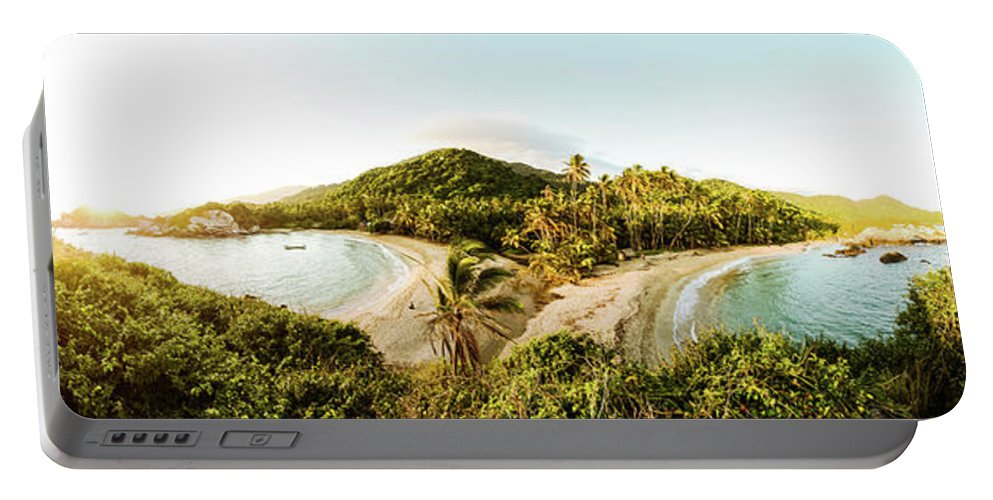 Sunrise Portable Battery Charger featuring the photograph Caribbean Sunrise by Michael Weber