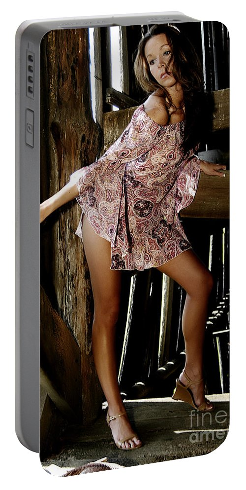 Clay Portable Battery Charger featuring the photograph Carla's In The Barn Again by Clayton Bruster