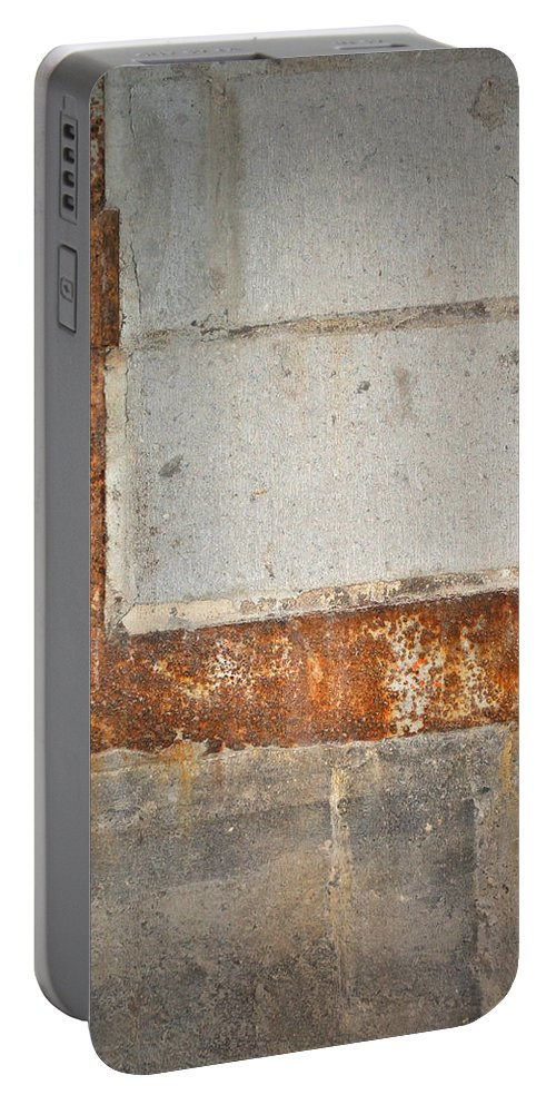 Architecture Portable Battery Charger featuring the photograph Carlton 14 - Abstract Concrete Wall by Tim Nyberg