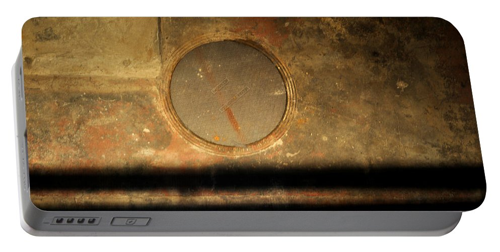 Manhole Portable Battery Charger featuring the photograph Carlton 15 - Square Circle by Tim Nyberg