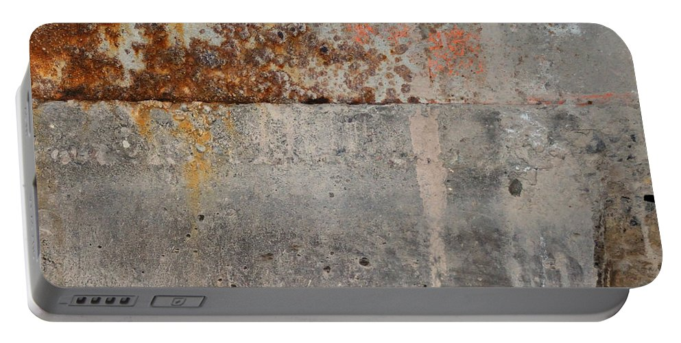 Concrete Portable Battery Charger featuring the photograph Carlton 16 Concrete Mortar And Rust by Tim Nyberg