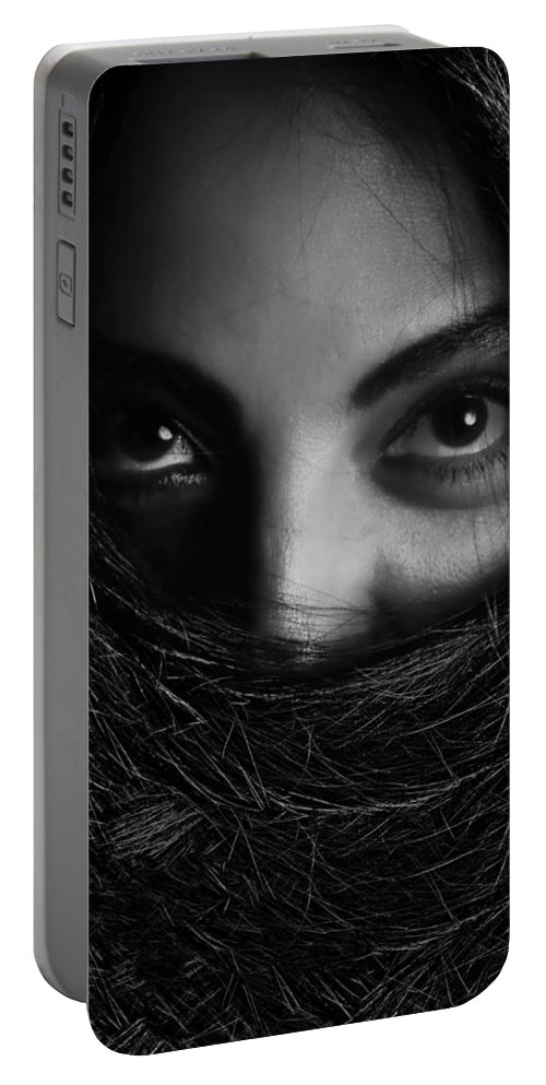 Eye Portable Battery Charger featuring the photograph Carmen by Agustin Uzarraga