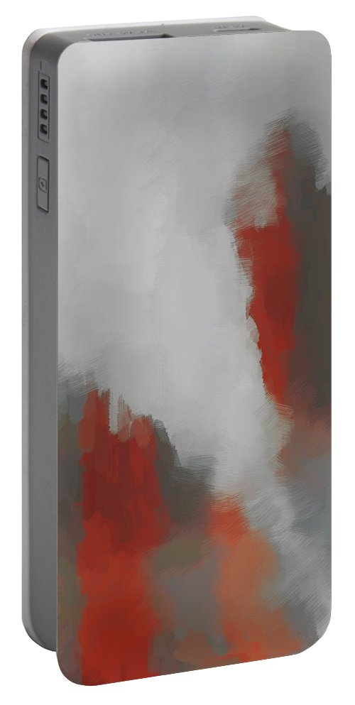 Abstract Portable Battery Charger featuring the digital art Carnival Cloud by Katherine Pearson