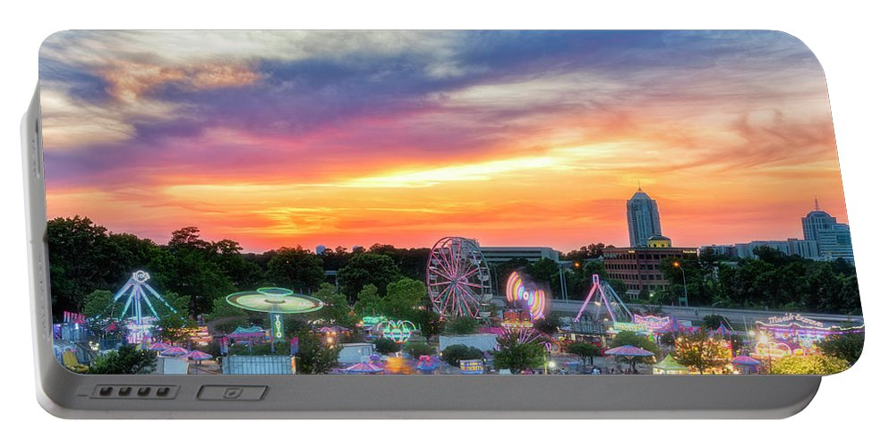 Carnival Ride Portable Battery Charger featuring the photograph Carnival Ride by Russell Pugh