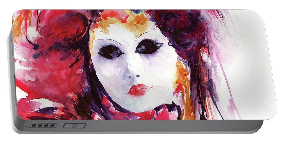 Stephie Portable Battery Charger featuring the painting Carnival by Stephie Butler