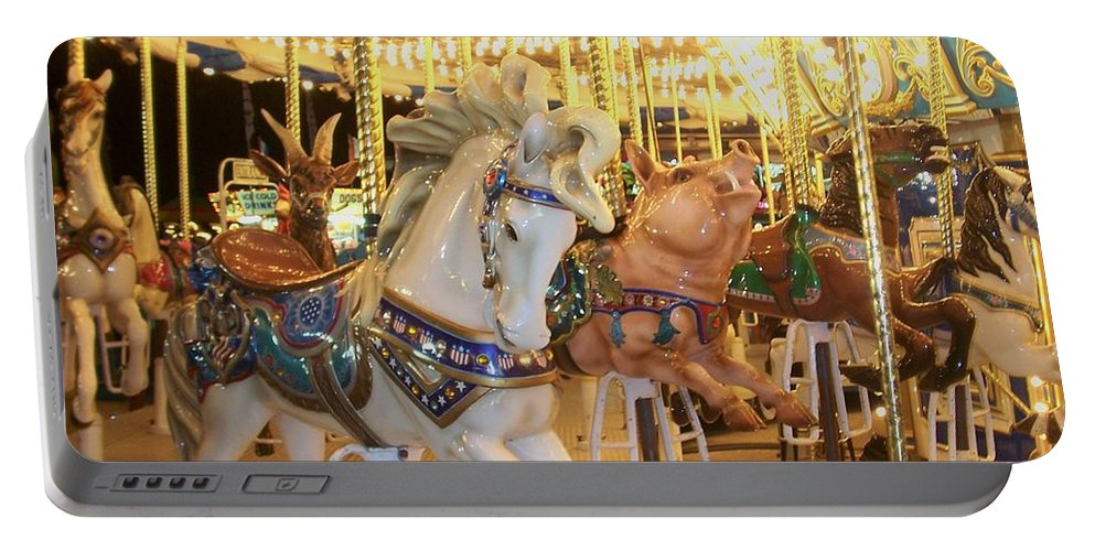 Carosel Horse Portable Battery Charger featuring the photograph Carousel Horse 2 by Anita Burgermeister
