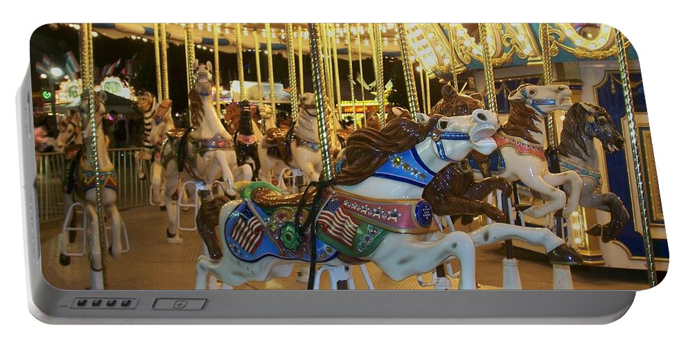 Carousel Horse Portable Battery Charger featuring the photograph Carousel Horse 3 by Anita Burgermeister