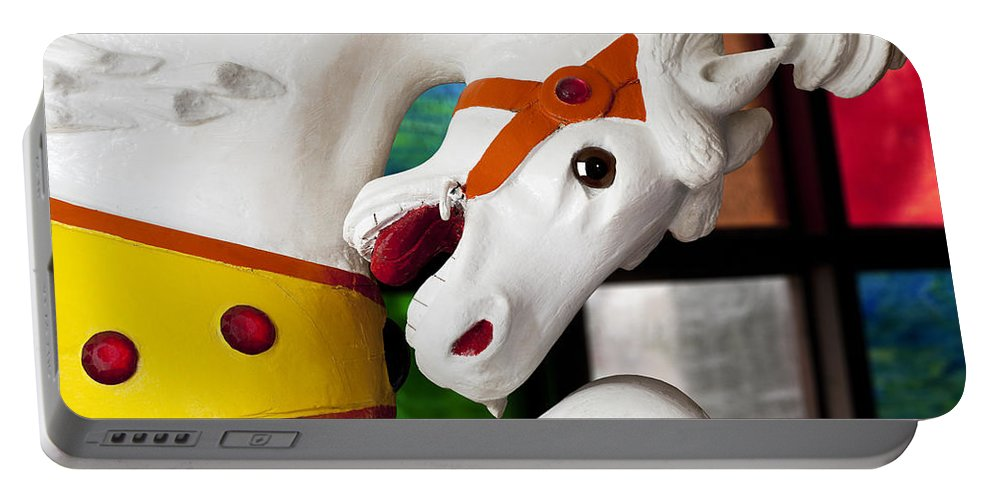 Carousel Portable Battery Charger featuring the photograph Carousel Horse 3 by Kelley King