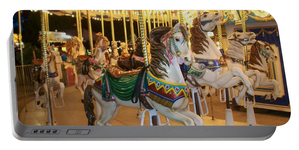 Carousel Horse Portable Battery Charger featuring the photograph Carousel Horse 4 by Anita Burgermeister