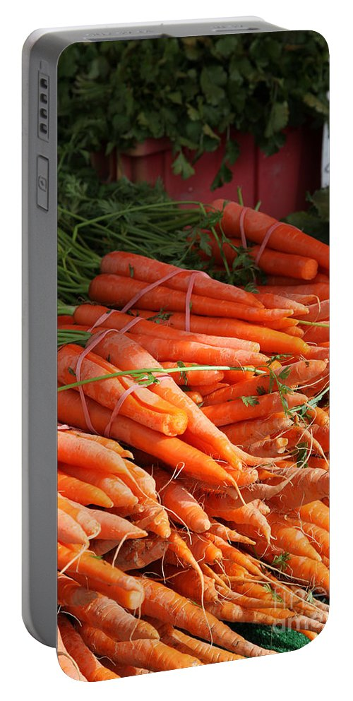 Stilllife Portable Battery Charger featuring the photograph Carrot Bounty by Portraits By NC