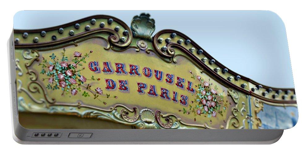 Paris Portable Battery Charger featuring the photograph Carrousel De Paris by Melanie Alexandra Price