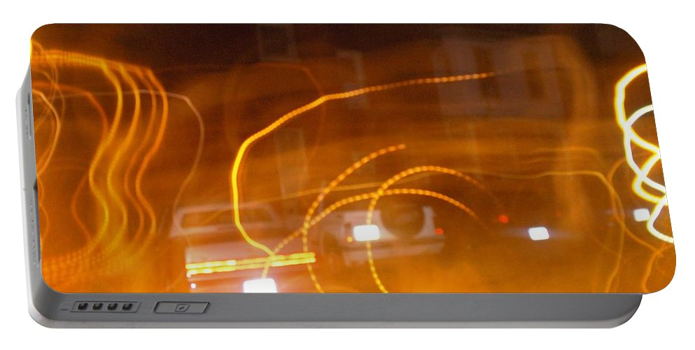 Photograph Portable Battery Charger featuring the photograph Cars On Fire by Thomas Valentine