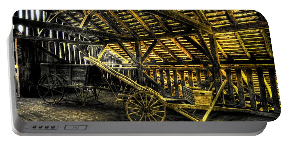 Farm Portable Battery Charger featuring the photograph Carts Before The Horse by Scott Wyatt