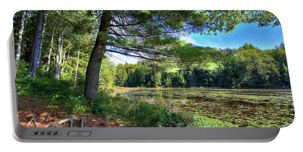 Cary Lake In August Portable Battery Charger featuring the photograph Cary Lake In August by David Patterson