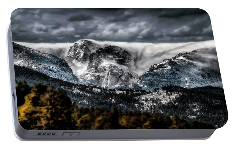 Mountain Photos Portable Battery Charger featuring the photograph Cascade by Garett Gabriel