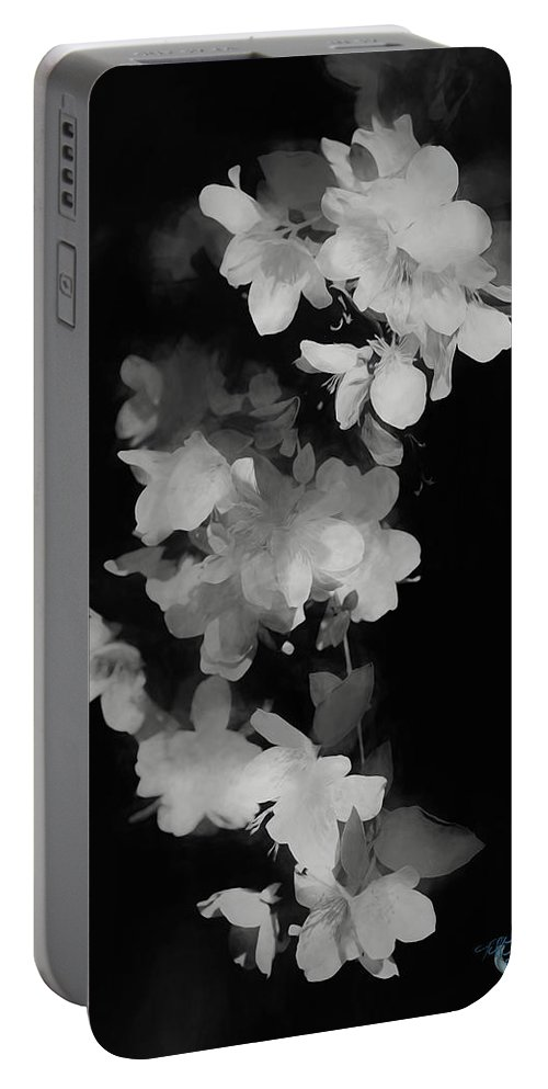 Abstract Portable Battery Charger featuring the painting Cascade Of Shadows by Theresa Campbell