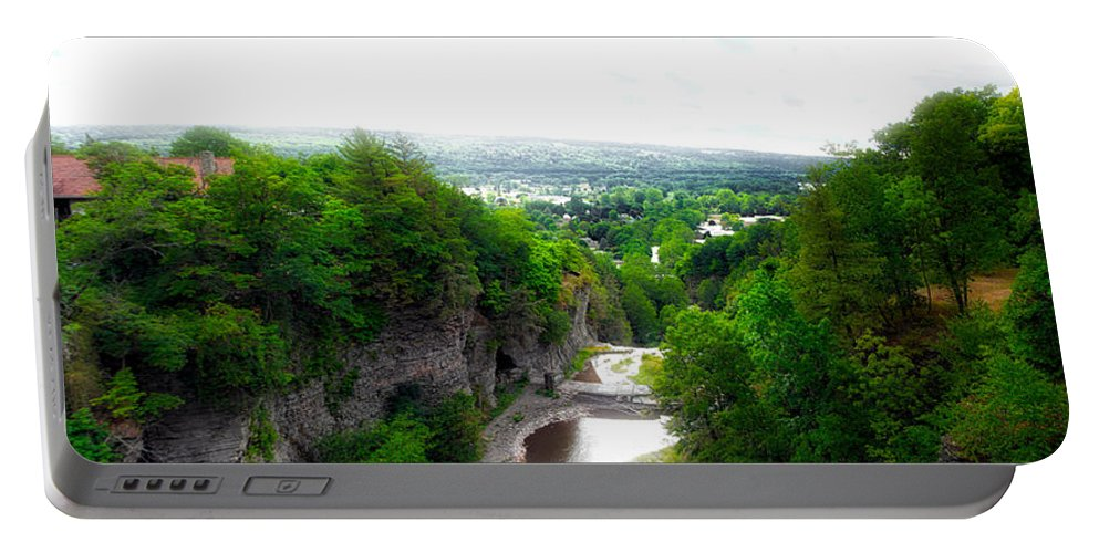 Cornell University Portable Battery Charger featuring the photograph Cascadilla Gorge Cornell University Ithaca New York Panorama by Thomas Woolworth