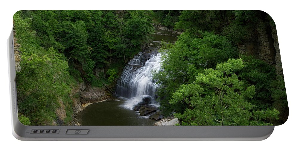 Cornell University Portable Battery Charger featuring the photograph Cascadilla Waterfalls Cornell University Ithaca New York 02 by Thomas Woolworth