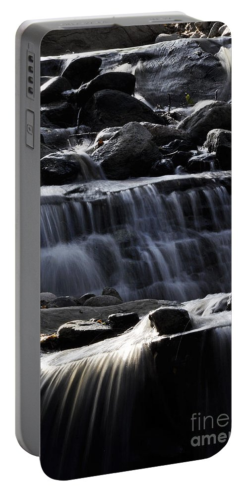 Clay Portable Battery Charger featuring the photograph Cascading Falls by Clayton Bruster