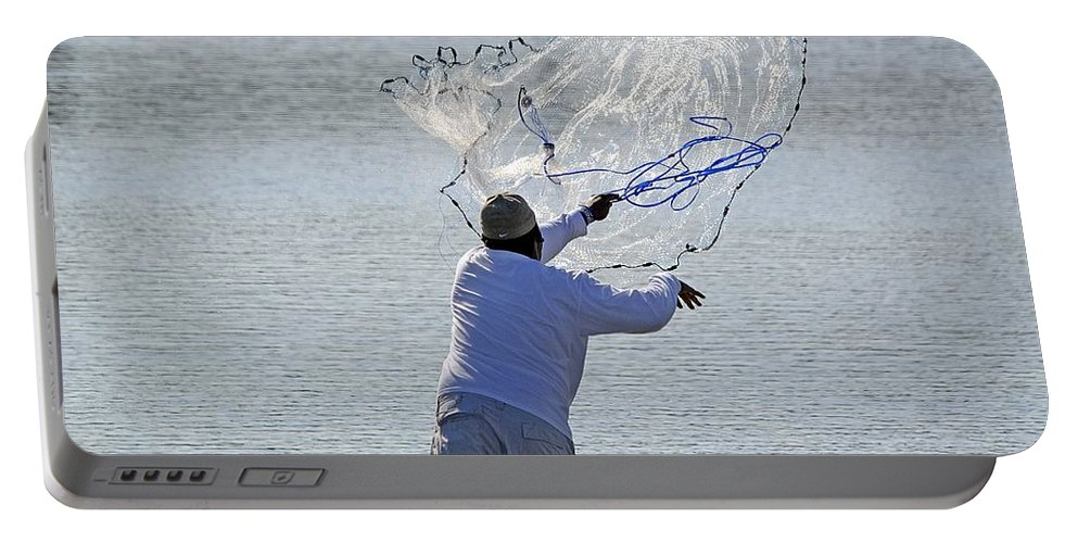 Nature Portable Battery Charger featuring the photograph Cast Net by Kenneth Albin
