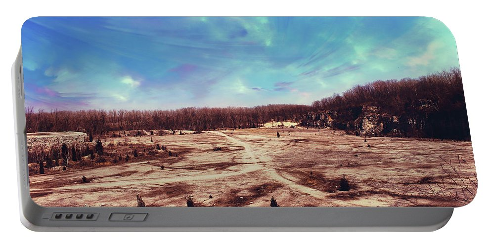 Castalia Quarry Reserve Portable Battery Charger featuring the photograph Castalia Quarry Reserve Dreamscape by Shawna Rowe
