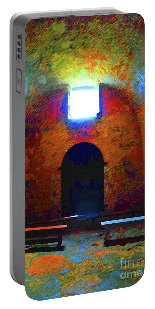 Chapel Portable Battery Charger featuring the photograph Castillo De San Marcos Chapel by Jost Houk