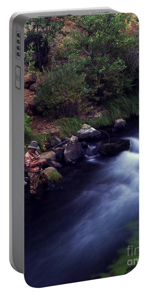 Fishing Portable Battery Charger featuring the photograph Casting Softly by Peter Piatt