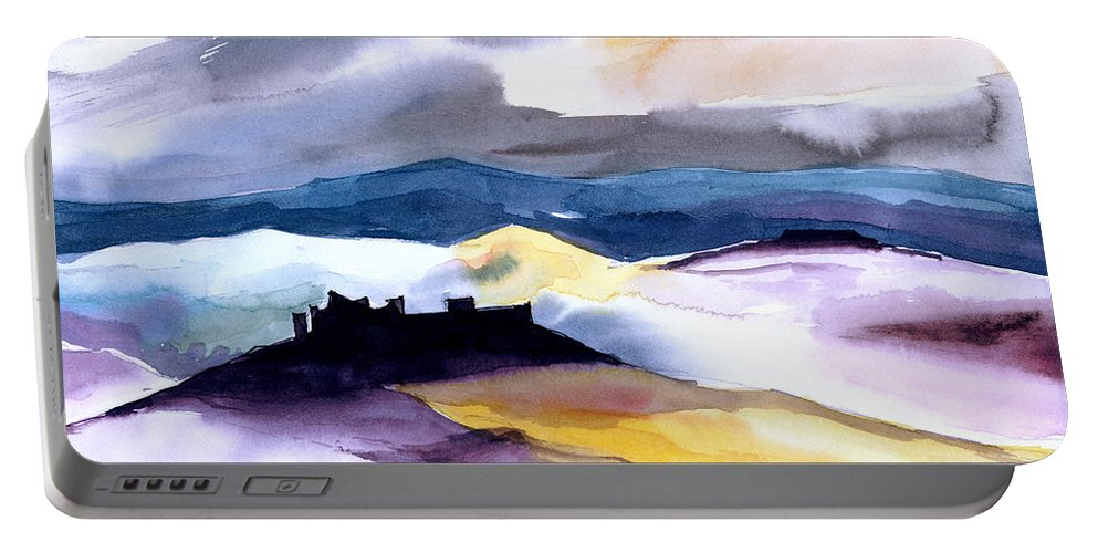 Water Portable Battery Charger featuring the painting Castle by Anil Nene