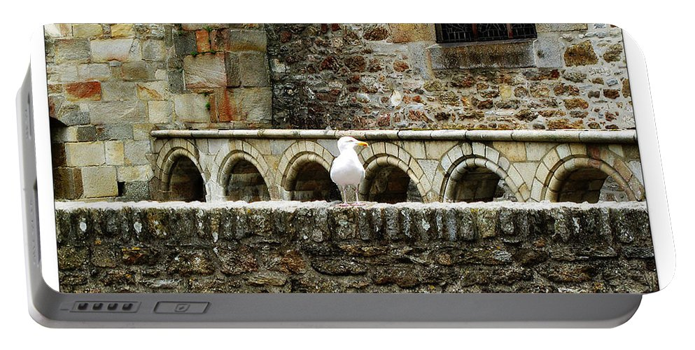 Arch Portable Battery Charger featuring the photograph Castle Bird by Joan Minchak