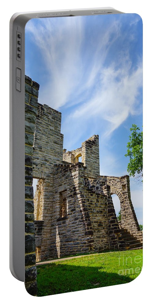 America Portable Battery Charger featuring the photograph Castle Corner Ha Ha Tonka by Jennifer White
