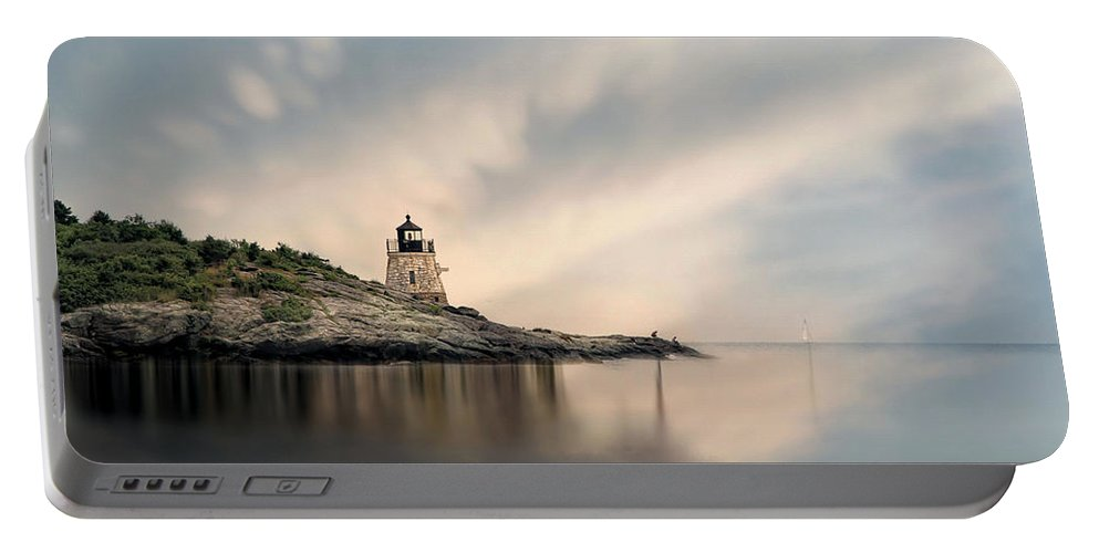 Lighthouse Portable Battery Charger featuring the photograph Castle Hill Light by Robin-Lee Vieira