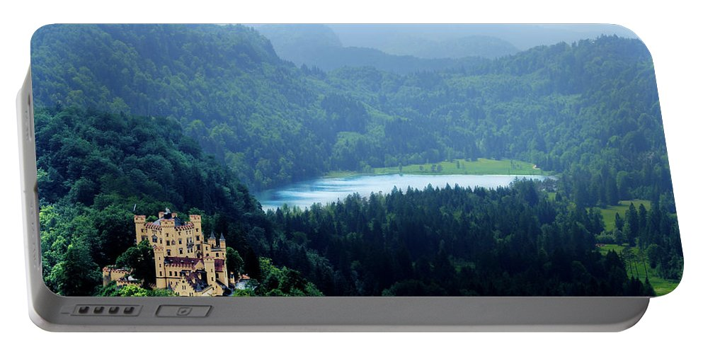Castle Portable Battery Charger featuring the photograph Castle Hohenschwangau 2 by Wolfgang Stocker