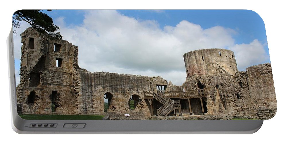 Castle Portable Battery Charger featuring the photograph Castle Ruins by JLowPhotos
