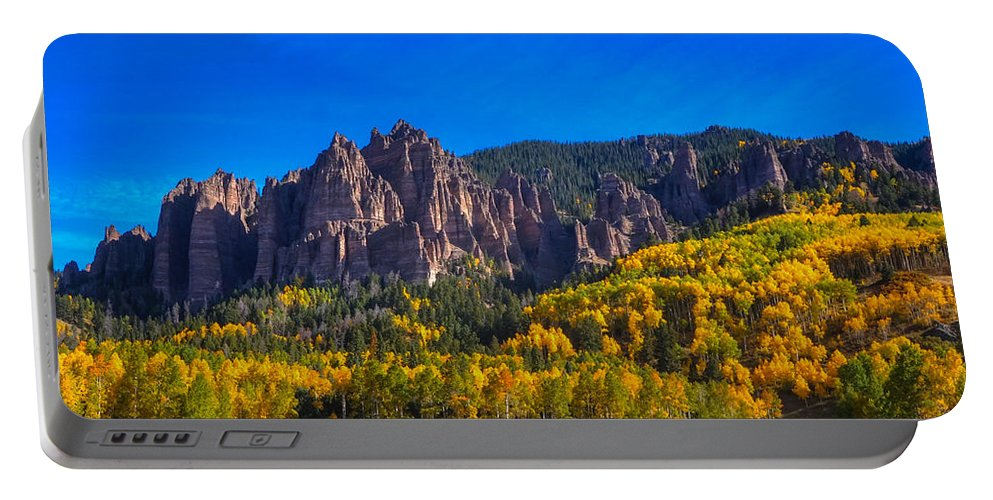 Rock Formations Portable Battery Charger featuring the photograph Castles by David Ross