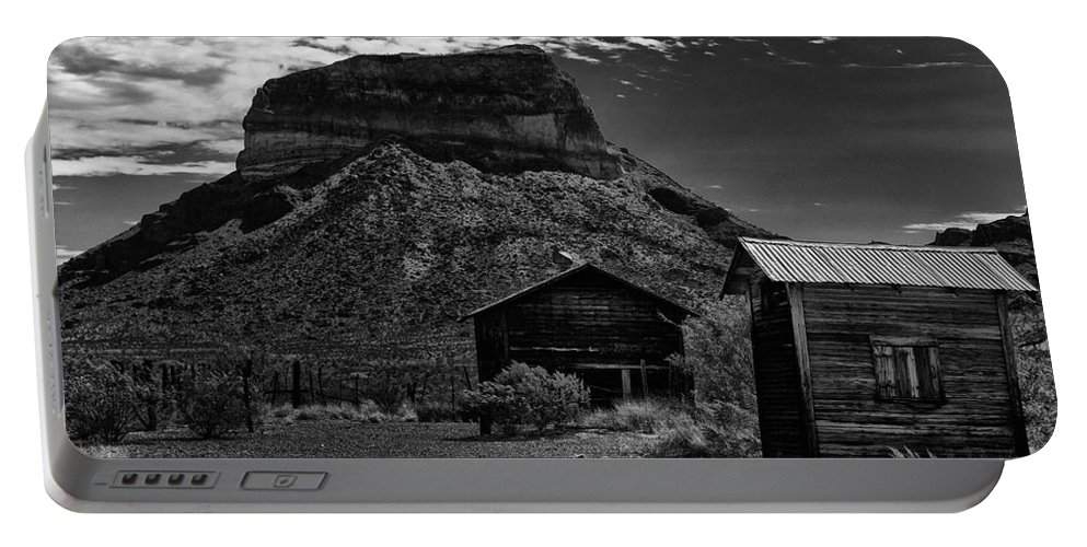 Castolon Portable Battery Charger featuring the photograph Castolon Ghost Town by Renee Hong