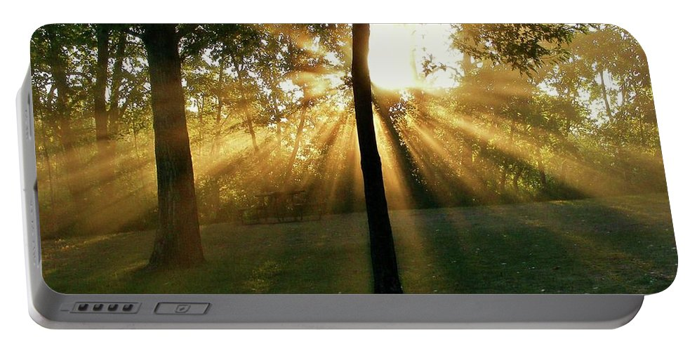 Sunlight Portable Battery Charger featuring the photograph Catch Some Rays by Marilyn Smith