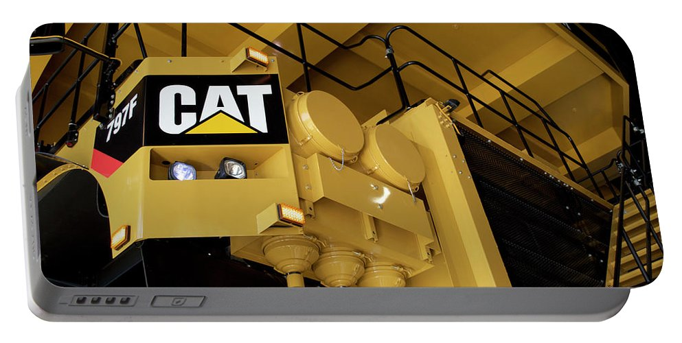 Caterpillar Portable Battery Charger featuring the photograph Caterpillar 797f Mining Truck 02 by Thomas Woolworth