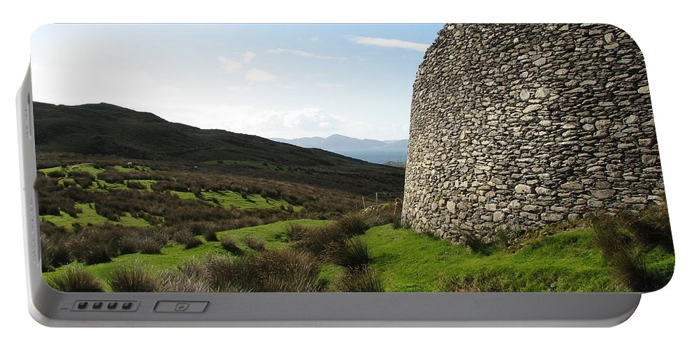 Fort Portable Battery Charger featuring the photograph Cathair Na Steige by Kelly Mezzapelle