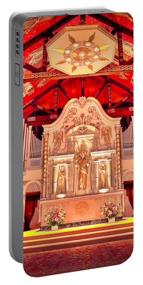 Cathedral Portable Battery Charger featuring the photograph Cathedral Basilica Of St. Augustine by Rich Leighton