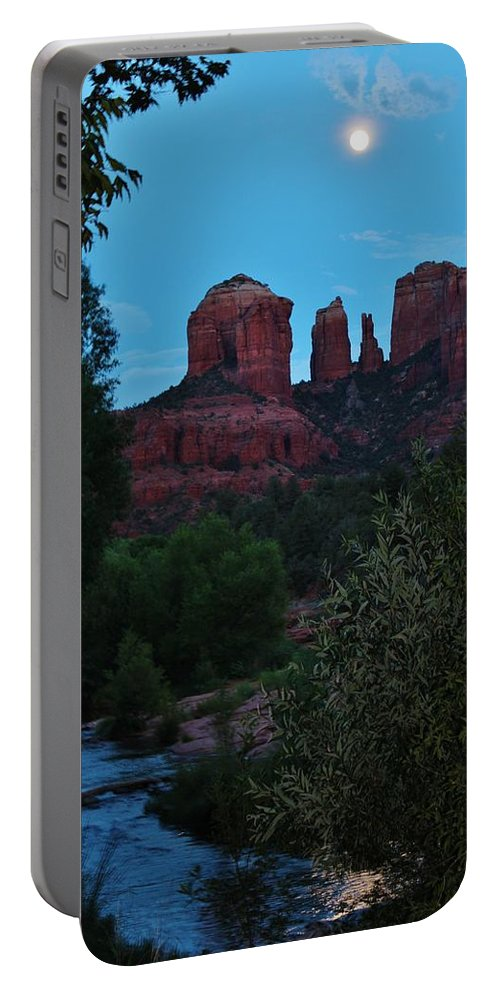 Cathedral Rock Portable Battery Charger featuring the photograph Cathedral Rock Rrc 081913 Ae by Edward Dobosh
